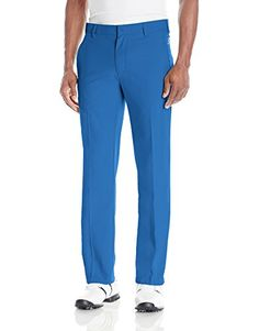 adidas Golf Men's Climalite 3-Stripes Pant  Flat-front golf pant featuring Pure Motion stretch technology and 3-stripes branding at back  Pockets: 2 on-seam side, 2 back welt