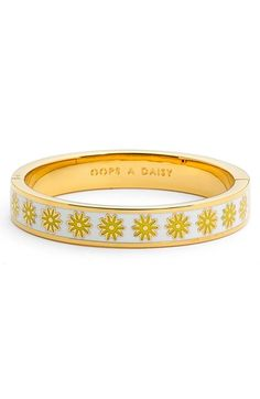kate spade new york 'idiom - oops a daisy' bangle
