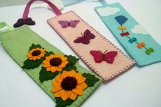 Felt butterfly bookmark Reader Gift Bookmark Book by DusiCrafts
