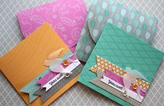 Laura Bassen card and envelope set