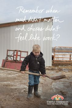 Even little hands are a big help on a Land O'Lakes Co-op dairy farm. #SimpleGoodness