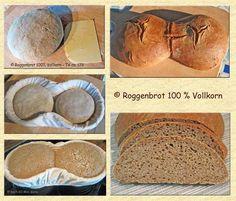 Roggenbrot 100 % Vollkorn  -   1. Variante
