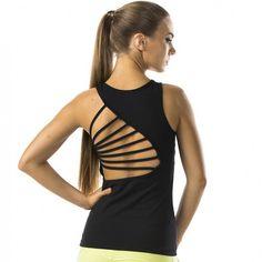 dca1a8af6ae61 Strappy Back Vest Top - Black – FitBoutique Gymträning