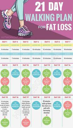 21-day walking plan Challenge that will help lose weight