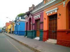 Lovely coloured houses in Lima Just Go Places | Share Travel Experience