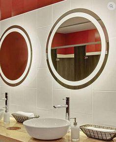 Espelho com iluminação embutida estilo Camarim Moderno, confira modelos e cores.