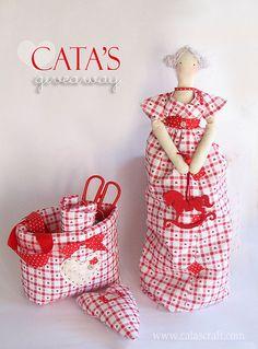 Tilda's doll in red