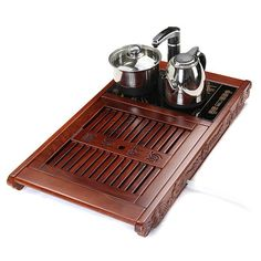Ebony Wood Tea Tray With Induction Cooker Cooking Equipment, Tea Tray, Cooking Wine, Chinese Tea, Brewing Tea, How To Make Tea, Tea Accessories, Tea Ceremony, Different Recipes