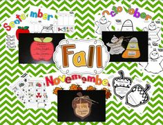These are sweet little Fall themed crafts and learning pages to help your students focus on nouns.