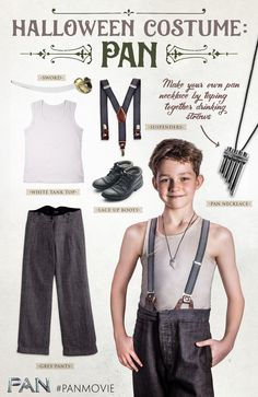 simple DIY Halloween costume inspired by Neverland's hero, Peter Pan, play. - Peter Pan & Neverland -A simple DIY Halloween costume inspired by Neverland's hero, Peter Pan, play. Movie Character Costumes, Toy Story Costumes, Book Day Costumes, Family Costumes, Boy Costumes, Costume Ideas, Peter Pan Costume Kids, Lost Boys Costume, Kids Costumes Girls