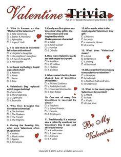 valentine's day quiz free
