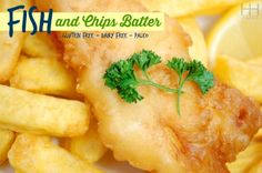 Restaurant fish and chips are usually laden with rancid seed oils and gluten. For a gluten free real food version try my recipe for Paleo Fish and Chips! Gluten Free Cooking, Dairy Free Recipes, Paleo Recipes, Cooking Recipes, Paleo Meals, Paleo Food, Yummy Food, Fish And Chips Batter, Fish Batter