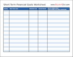 I've been thinking about our financial goals. This is a helpful worksheet for planning them out.
