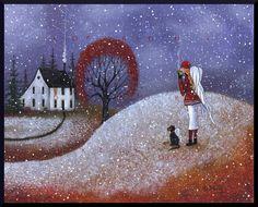 A Watchful Eye   Angels first Snow Dog Saltbox  a от ChicorySkies
