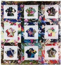 Stitch by Stitch: Hawaiian shirt quilt...   quilts   Pinterest ... : hawaiian shirt quilt pattern - Adamdwight.com