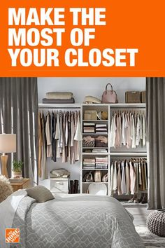 The Home Depot has everything you need for your home improvement projects. Click through to learn more about our storage and organization offerings. Closet Storage, Bedroom Storage, Closet Organization, Organization Ideas, Closet Remodel, Master Bedroom Closet, Closet Designs, Closet Space, My New Room