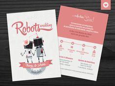 Robots Wedding invitation