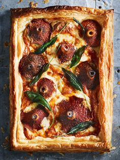 Mushroom Smoked Mozzarella And Sage Tart | Donna Hay
