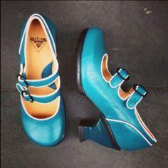 Fluevog Liz Turquoise $399
