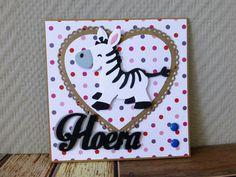 @ Hoera, gefeliciteerd, baby, verjaardag, kindje, Zebra (COL1447 - Marianne Design Collectables)