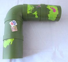 TMNT Sewer Pipes For Playset Parts Vintage by SaturdayMorningM for lizard tankinside