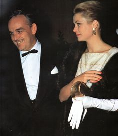 An undated picture of Rainier and Grace of Monaco