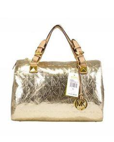 MICHAEL Michael Kors Grayson Medium MK Signature Satchel Paint Leather Golden [MK 193] - $57.29 : Michael Kors Handbags Outlet Online     http://www.8minzk.com/p/Michael-Kors-Bags-Outlet/