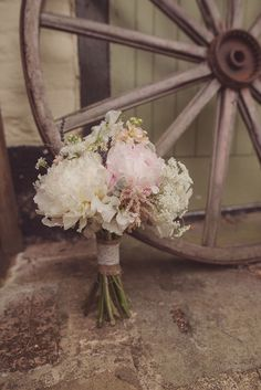 Pink Bouquet Flowers Bride Bridal Peony Soft Pastel Romantic & Rustic Outdoor Marquee Wedding http://www.rebeccadouglas.co.uk