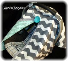 Carseat Canopy Grey Chevron Universal, - This will be my kids cover hands down!