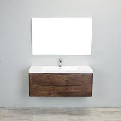 Eviva Smile 48 in. Single Sink Wall Mount Bathroom Vanity Set - EVVN12-SS-48RSWD-WM
