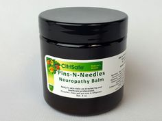 Pins & Needles Pain Cream – 4 oz  Silly name for a superior product!  Our newest balm is a mixture of the finest ingredients, prepared in an exceptional manner (Secundum Artem). As with our glutathione balms, Pins & Needles Pain Cream is still in a coconut cream base with nano-technology to increase absorption. This formulation is exceptional at soothing neuropathy symptoms including numbness, burning, tingling, sensitivity and weakness.