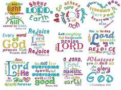Bible verses subway art heavenly inspirations set 2 machine embroidery designs