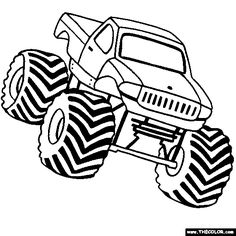 Monster Jam Coloring Wwwpicturesbosscom