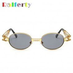 6f715a52c4c Ralferty 2017 Retro Small Round Sunglasses Men Male Vintage Steampunk  Sunglass Women Hip Hop Gold Glasses Eyewear UV400 lunette