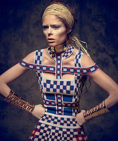 Coco Rocha wears Alexander McQueen in 'Into The Wild' by Xevi Muntane for Harper's Bazaar Mexico, June 2014.