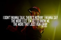 Swallow my words, taste my thoughts. Rapper Quotes, Song Quotes, Wall Quotes, Funny Quotes, Get To Know Me, Let It Be, Joe Budden, Hip Hop Quotes, Better Music