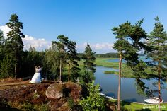 A beautiful ceremony in the rain at a summer cottage, couple portraits on a boat and then the sun came out to celebrate at Adventure Valley at this Porvoo Wedding. Couple Portraits, Finland, Groom, Adventure, Bride, Couples, Celebrities, Amazing, Summer