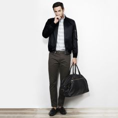 Sateen Bomber - Outerwear Men at Club Monaco
