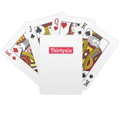 thirty six Years old funny 36th birthday Playing Cards - home gifts ideas decor special unique custom individual customized individualized