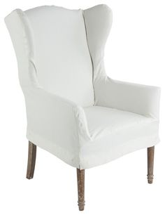 gray chair slipcover salon mat 18 best wing images wingback slipcovers tub white home furniture design