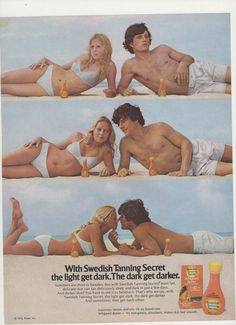 1972 Swedish Tanning Secret Advertisement by fromjanet on Etsy, $7.00