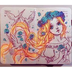 disney.arts: The gorgeous Rapunzel ! Done by @qinniart #disneyarts
