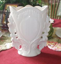Beautiful Vintage White Ceramic Mid Century by NeldaMaesCloset, $8.50