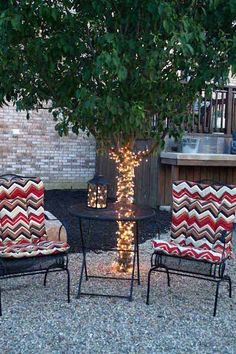 Top 28 Ideas Adding DIY Backyard Lighting for Summer Nights - Amazing DIY, Interior & Home Design Backyard Lighting, Deck Lighting, Landscape Lighting, Lighting Ideas, Lights In Backyard, Tree Lighting, Lighting Design, Backyard Trees, Backyard Pergola
