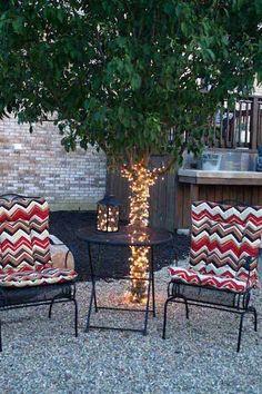 Top 28 Ideas Adding DIY Backyard Lighting for Summer Nights - Amazing DIY, Interior & Home Design Backyard Lighting, Deck Lighting, Landscape Lighting, Lighting Ideas, Tree Lighting, Lighting Design, Backyard Trees, Backyard Pergola, Backyard Landscaping