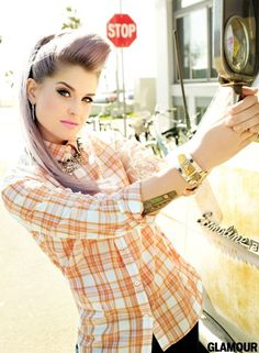 Kelly Osbourne Glamour Magazine - can we just talk about how GOOD she looks? You go girl!