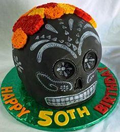 Dia de los muertos | ... Club Birthday Cakes on Dia De Los Muertos Skull 50th Birthday Cake