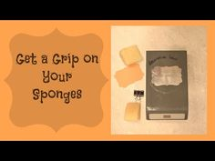 Quick Crafting Tip - Get a grip on your sponges and a great way to identify them. Stampin' Up!, card, paper, scrapbook, craft, rubber, stamps, hobby, decorative label punch, www.lisasstampstudio.com