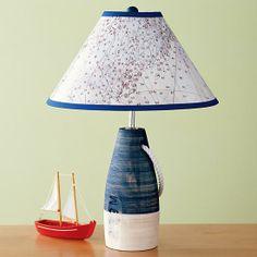 Nautical Theme Buoy Lamp - boys room.