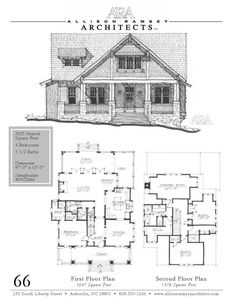 Craftsman house plans: Beaucatcher Cottage plan by Allison Ramsey Architects  {click for photos of real home--gorgeous}